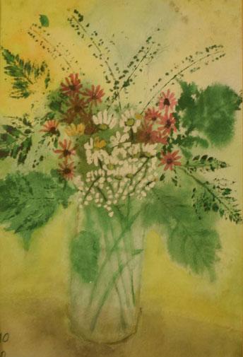פרחים-אקוורל