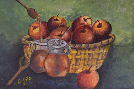 ציור תפוח-בדבש- סוזן טולדאנו
